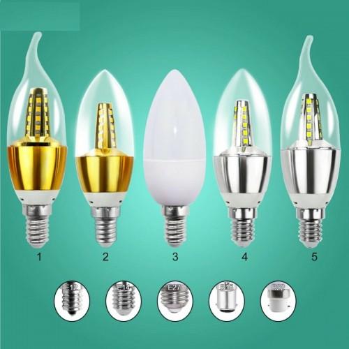 Lampadine lampadaio fiamma a Led E12 E14 E27 B15 B22 ac220V 3W 5W 7W luce bianco