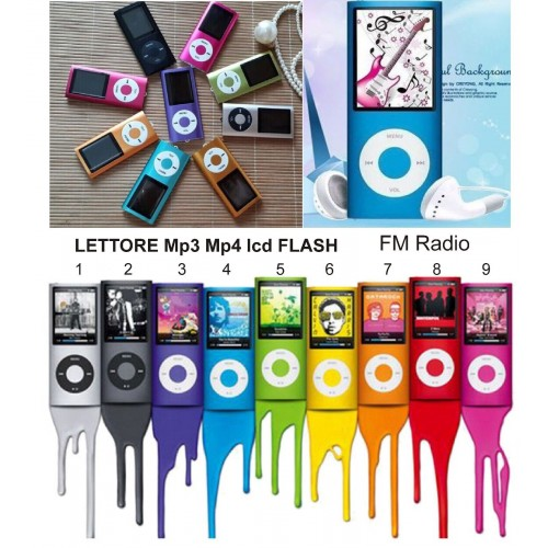MINI LETTORE MP3 MP4 LCD PLAYER ALLUMINIO USB SUPPORTA MICRO SD TF DA 8 16 32GB