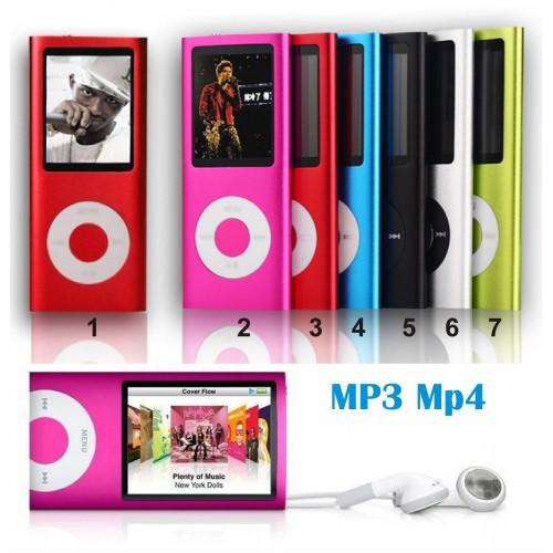 MINI LETTORE MP3 MP4 PLAYER ALLUMINIO CLIP USB lcd support MICRO SD TF fino 32GB