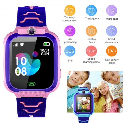 OROLOGIO TELEFONO SMARTWATCH per bambini ANDROID IOS con fotocamera chat 1.44