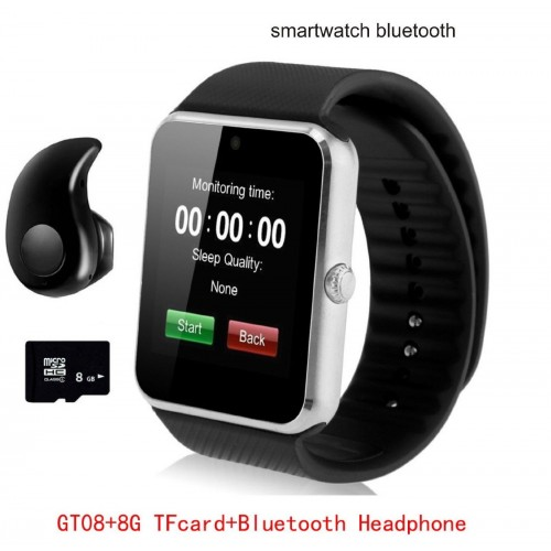 Orologio Sports SmartWatch Bluetooth per Android IOS + auricolare + scheda 8GB