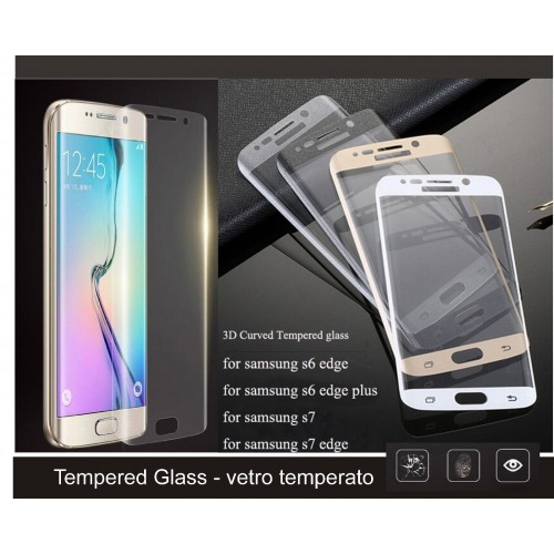 PELLICOLA Display VETRO TEMPERATO tempered glass curvo per SAMSUNG S6 S7 edge