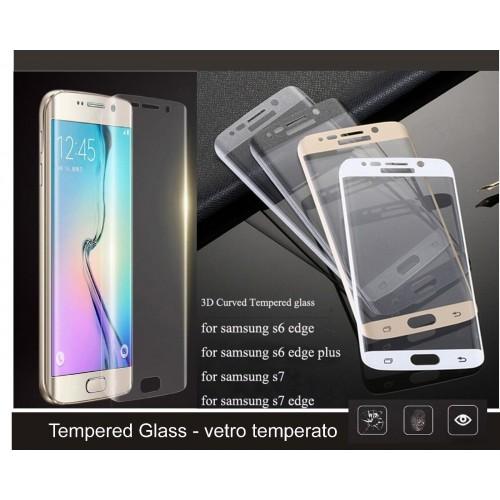 PELLICOLA Display VETRO TEMPERATO tempered glass curvo per SAMSUNG S6 S7 edge