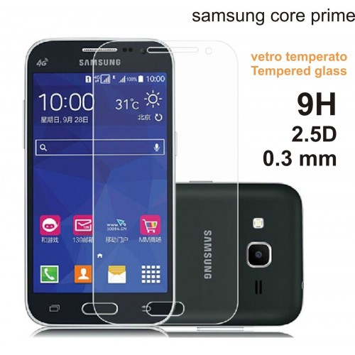 PELLICOLA In Vetro Temperato tempered glass 0.3 mm Per SAMSUNG Galaxy core g360
