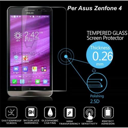 PELLICOLA PROTEGGI DISPLAY TEMPERED GLASS vetro temperato PER ASUS Zenfone 4 9H