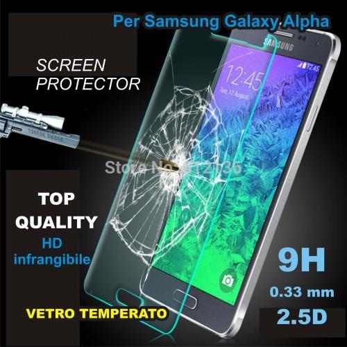 PELLICOLA PROTEGGI SCHERMO 9H 0.33 mm 2.5D vetro temperato Samsung Galaxy alpha
