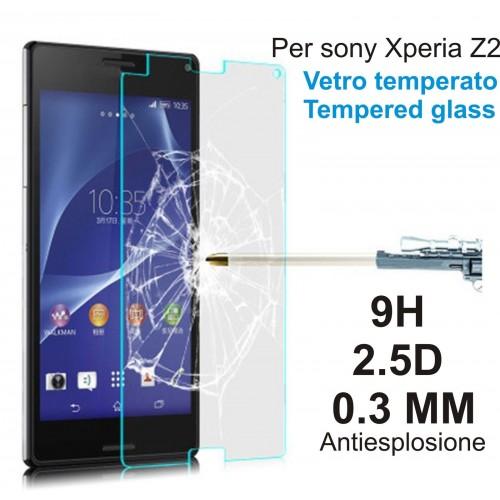 PELLICOLA PROTEGGI SCHERMO in vetro temperato 9H 0.3 2.5D Sony Xperia Z2