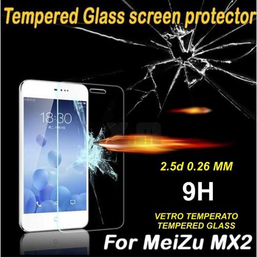 PELLICOLA PROTETTIVA TEMPERED GLASS vetro temperato 9H 2.5D 0.26 mm MEIZU MX2