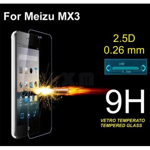 PELLICOLA PROTETTIVA TEMPERED GLASS vetro temperato 9H 2.5D 0.26 mm MEIZU MX3