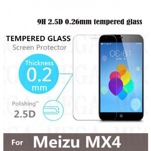 PELLICOLA PROTETTIVA TEMPERED GLASS vetro temperato 9H 2.5D 0.26 mm MEIZU MX4