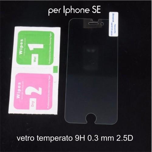PELLICOLA TEMPERED GLASS VETRO TEMPERATO per Apple IPHONE SE 0.3 mm 2.5D 9H
