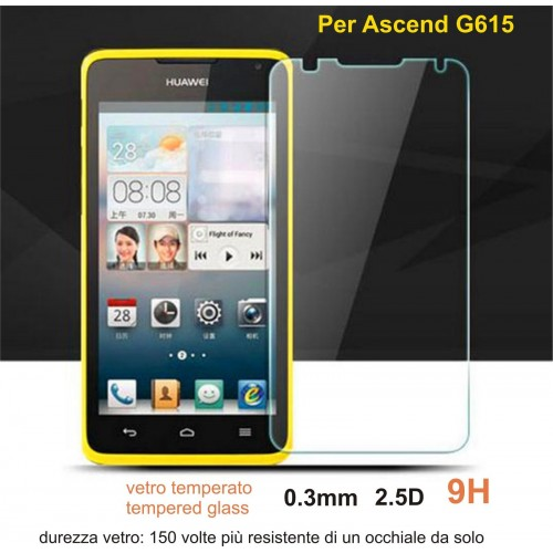 PELLICOLA VETRO TEMPERATO tempered glass HUAWEI ascend G615 5.0