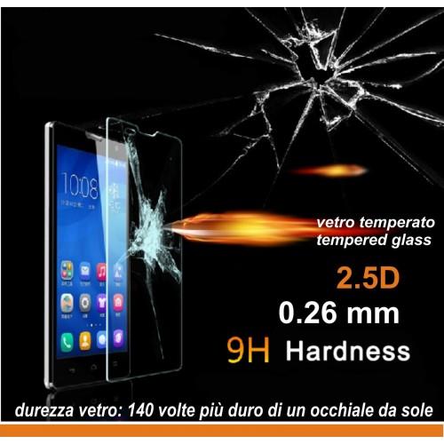 PELLICOLA VETRO TEMPERATO tempered glass per HUAWEI Honor 3C -  9H 2.5D 0.26 MM