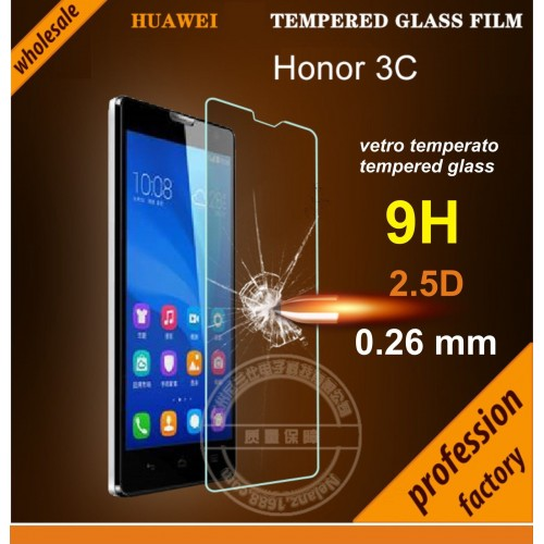 PELLICOLA VETRO TEMPERATO tempered glass per HUAWEI Honor 3C - 9H 2.5D 0.26 MM