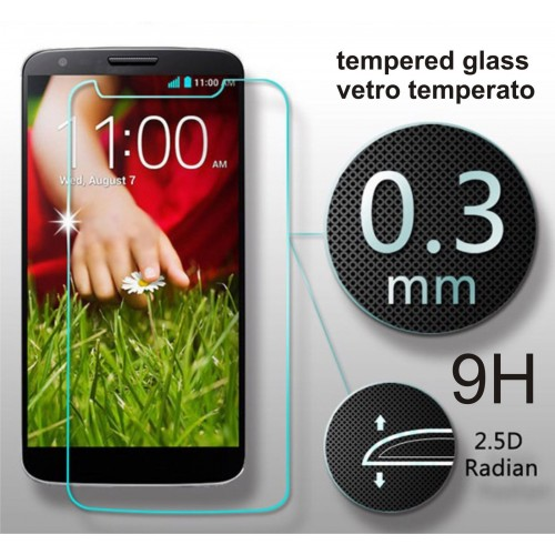 PELLICOLA diplay tempered glass vetro temperato temperato 0.3 9H 2.5D LG G2 D802