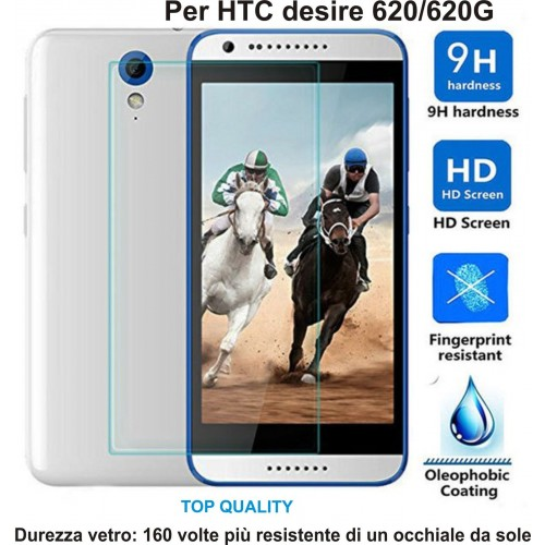 PELLICOLA display temperd glass vetro temperato 0.3mm 9H 2.5D HTC DESIRE 620 G