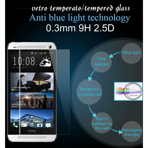 PELLICOLA display tempered glass vetro temperato 0.3mm 9H2.5D per smartphone HTC