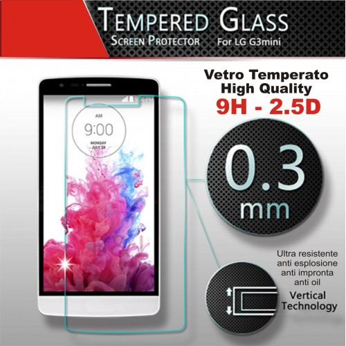 PELLICOLA proteggi schermo in vetro temperato 0.3 9H 2.5D LG G3 mini D722 D724