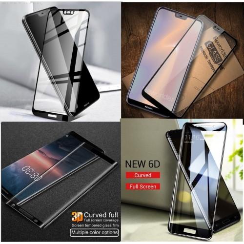 PELLICOLA protezione in vetro temperato NERO per Nokia 1 2 3 5 6 7 8 9 X5 X6
