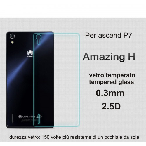 PELLICOLA retro/back VETRO TEMPERATO tempered glass per HUAWEI Ascend P7 9H