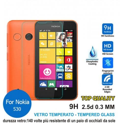 PELLICOLA tempered glass in vetro temperato 9H 0.3mm 2.5D per Nokia Lumia 530
