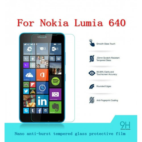 PELLICOLA tempered glass in vetro temperato 9H 0.3mm 2.5D per Nokia Lumia 640