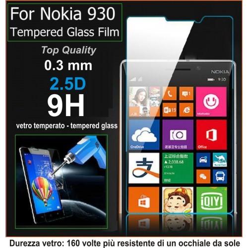 PELLICOLA tempered glass in  vetro temperato 9H 0.3mm 2.5D per Nokia Lumia 930
