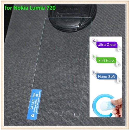 PELLICOLA tempered glass vetro morbido pellicola 9H 0.3mm per Nokia Lumia 720