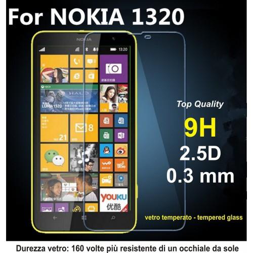 PELLICOLA tempered glass vetro temperato 9H 0.3mm 2.5D per Nokia Lumia 1320