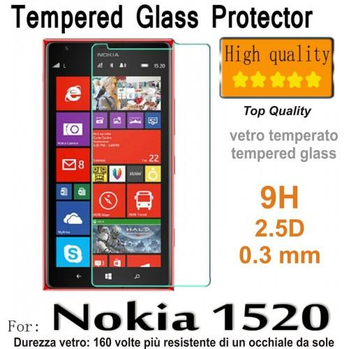 PELLICOLA tempered glass vetro temperato 9H 0.3mm 2.5D per Nokia Lumia 1520