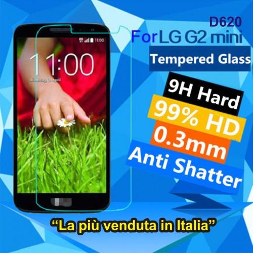 PELLICOLA vetro temperato proteggi schermo tempered 0.3 9H 2.5D LG G2 mini d620