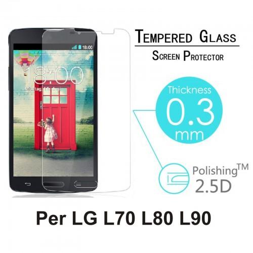 PELLICOLA vetro temperato proteggi schermo tempered 0.3mm 9H 2.5D LG L70 L80 L90