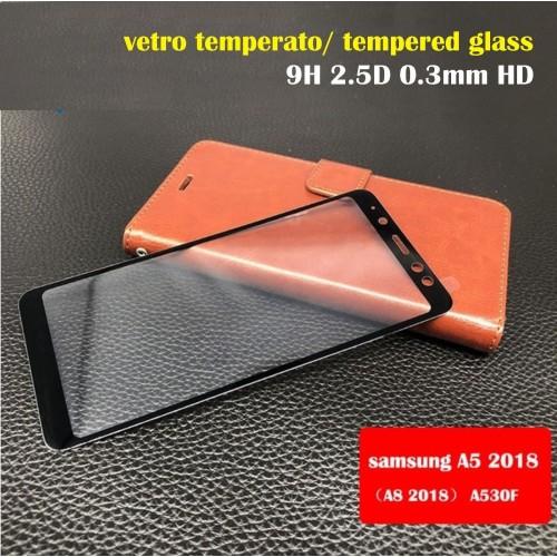 Pellicola VETRO temperato colorful 0.3 HD per SAMSUNG Galaxy A5 A7 A8 Plus 2018