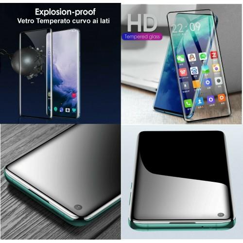 Pellicola display rigida vetro temperato curvo ai lati per OnePlus  7T 8 8T Pro