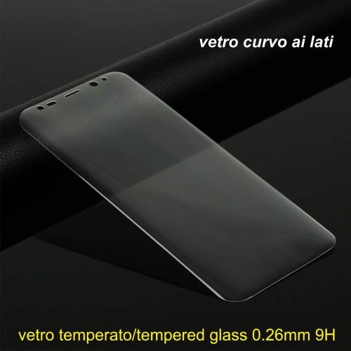 Pellicola in VETRO temperato tempered glass lati curvi SAMSUNG GALAXY S8 & plus