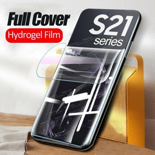 Pellicola in hydrogel curva ai lati protezione display 100% per Samsung S21Ultra