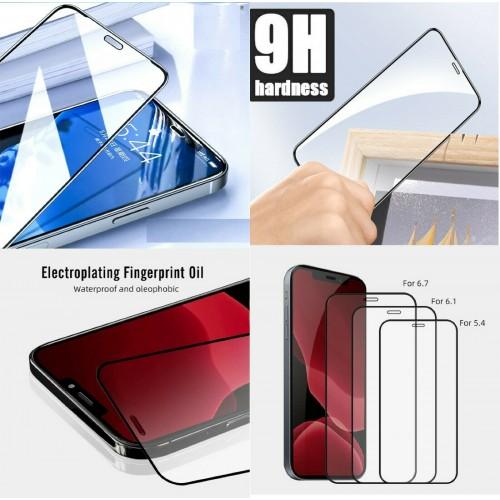 Pellicola vetro temperato curvo copre al 100% per Apple iphone 12 mini pro max