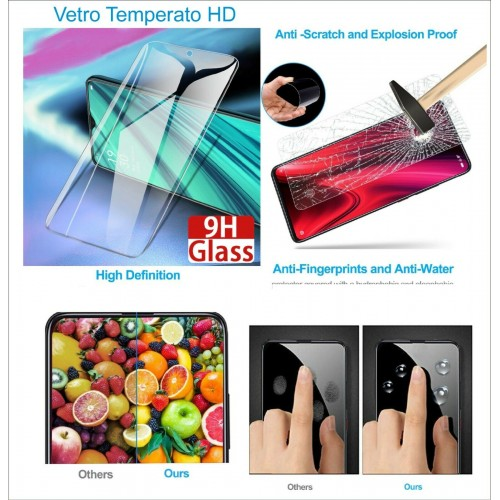 Pellicola vetro temperato per Oppo Realme 5 6 7 pro V3 V5 X2 X7 XT X50 C15 C3 C2
