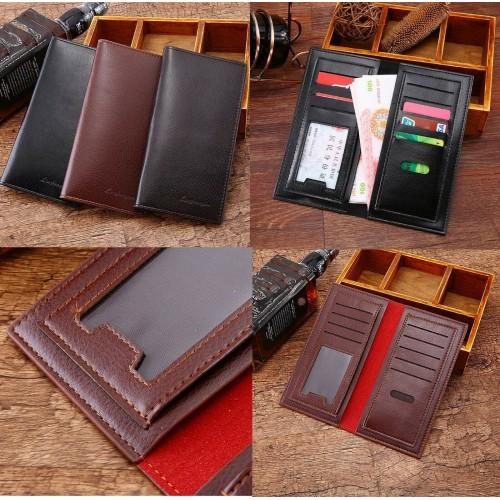 Porta Carte di Credito portafogli lungo documenti Tessere bancomat Patente sched