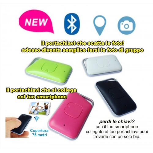 Portachiavi bluetooth wireless scatto foto trova oggetti allarme iphone samsung