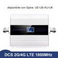 Repetitore 2G 4G DCS 1800 Mhz Antenna amplificatore per 50-100 mq display lcd