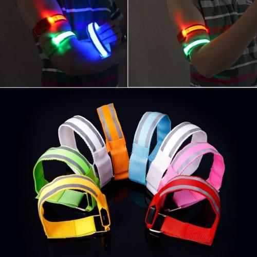 Riflettente Luce Armband strap Led Fascia da Braccio Notte Corsa Ciclistica
