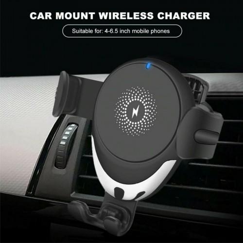 SUPPORTO AUTO UNIVERSALE wireless caricabatterie 15w QI senza fili smartphone