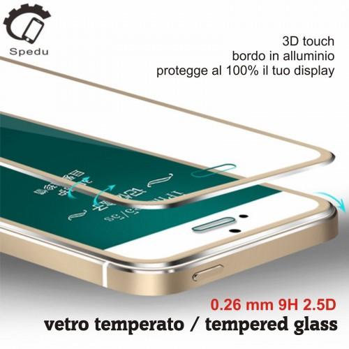 TEMPERED GLASS VETRO TEMPERATO display 3D Curvo per IPHONE 6 6S 7 7S 8 Plus X