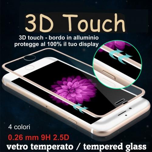 TEMPERED GLASS VETRO protezione display 3D Curvo per Apple IPHONE 6 7 8 Plus X