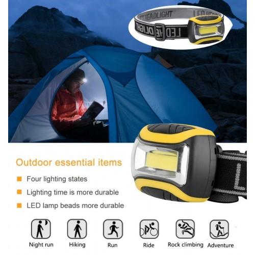 Torcia Elettrica con fascia per la testa LED Ricaricabile impermeabile camping