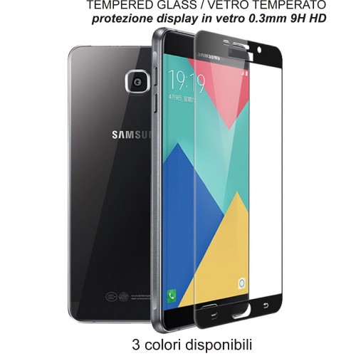 VETRO TEMPERATO tempered full glass per SAMSUNG Galaxy A3 A5 A7 J3 J5 J7 2017