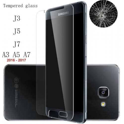 VETRO TEMPERATO tempered glass per SAMSUNG Galaxy A3 A5 A7 J3 J5 J7 2016 2017