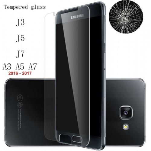 VETRO TEMPERATO tempered glass per SAMSUNG Galaxy A3 A5 A7 J3 J5 J7 2016 2017