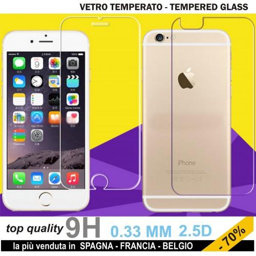 X2 PELLICOLA tempered glass vetro temperato FRONT+BACK IPHONE 6 S plus 9H 2.5D
